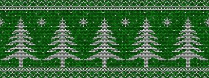 Sömlös modellbakgrund för grön och vit jul vektor illustrationer