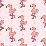 Sömlös modellbakgrund för gullig flamingo royaltyfri illustrationer