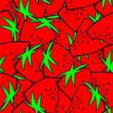 Sömlös modellbakgrund för jordgubbe Arkivfoton