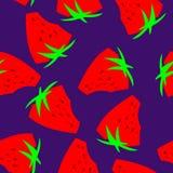 Sömlös modellbakgrund för jordgubbe vektor illustrationer
