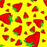 Sömlös modellbakgrund för jordgubbe stock illustrationer