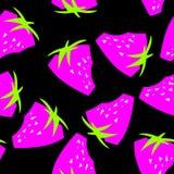Sömlös modellbakgrund för jordgubbe royaltyfri illustrationer