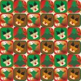Sömlös modellbakgrund 13 för jul Arkivfoto