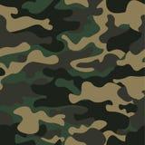 Sömlös modellbakgrund för kamouflage Klassisk klädstil som maskerar camorepetitiontrycket Gröna bruna färger för svart oliv royaltyfri illustrationer