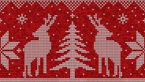 Sömlös modellbakgrund för röd och vit jul med deers royaltyfri illustrationer