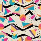 Sömlös modellbakgrund för Retro 80-tal vektor illustrationer