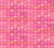 Sömlös modellbakgrund för rika rosa hjärtor Fotografering för Bildbyråer