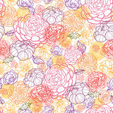 Sömlös modellbakgrund för söta blommor Arkivfoto