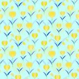 Sömlös modellbakgrund för tulpan; planlagd blom- vektor Fotografering för Bildbyråer