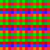 Sömlös modellbakgrund från en variation av mångfärgade fyrkanter arkivbild