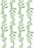 sömlös modellbakgrund, grön bladnatur, illustration Royaltyfri Foto