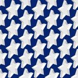 Sömlös modellbakgrund med 3d stjärnor, EPS10 royaltyfri illustrationer