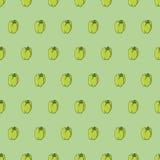Sömlös modellbakgrundspeppar Grönsakvektor Royaltyfria Foton