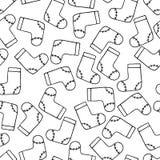 Sömlös modellbakgrundsSanta Claus känga För vektorrepetition för lyckligt nytt år jordning royaltyfri illustrationer