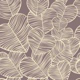 Sömlös modellbrunt för hjärtor vektor illustrationer