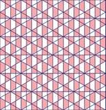 Sömlös modelldesign för geometriskt raster arkivfoto