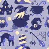 Sömlös modellfest för allhelgonaafton eller trickparti royaltyfri illustrationer