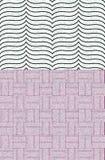 Sömlös modellfyrkant och linje design för textil Royaltyfri Foto