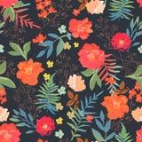 Sömlös modellhand för blommor som dras för tryckdesign Vektorändring royaltyfri illustrationer