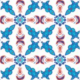 Sömlös modellillustration för vektor av för Iznik för turkisk ottoman konst för tegelplatta islamisk moské vektor illustrationer