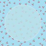 Sömlös modellkörsbär med bladet på pastellfärgad bakgrund för suddighet med Fotografering för Bildbyråer