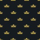 Sömlös modellLaksheri stil krona vektor Royaltyfri Bild