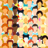 Sömlös modellman, kvinna, flicka, idrottsman nen, lärare, afrikan, yo Royaltyfri Foto