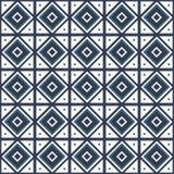 Sömlös modellmonokrom för vektor som belägger med tegel med olika geometriska beståndsdelar i enkel stil Royaltyfri Fotografi