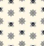Sömlös modellspindel och spindelrengöringsduk vektor illustrationer