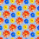 _ Sömlös modelltextur av blommor blom- bakgrund Royaltyfri Foto