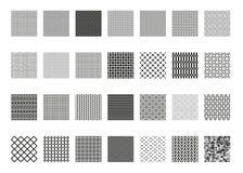 Sömlös modelluppsättning för vektor, samling, ändlös textur för tapeten, modellpåfyllningar, webbsidabakgrund, yttersidatexturer Royaltyfri Bild