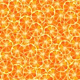 Sömlös modellvattenfärg för orange skiva stock illustrationer