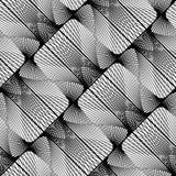 Sömlös monokrom dekorativ modell för design Royaltyfri Foto
