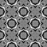 Sömlös monokrom dekorativ modell för design Royaltyfria Bilder