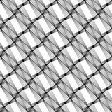 Sömlös monokrom geometrisk modell för design Royaltyfri Bild