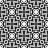 Sömlös monokrom geometrisk modell för design Royaltyfria Bilder