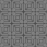 Sömlös monokrom geometrisk modell för design Royaltyfria Foton