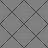 Sömlös monokrom illusionbakgrund för design Royaltyfri Fotografi