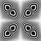 Sömlös monokrom illusionbakgrund för design Royaltyfri Foto