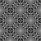 Sömlös monokrom illusionbakgrund för design Royaltyfria Foton