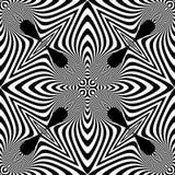 Sömlös monokrom illusionmodell för design Arkivbild