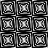Sömlös monokrom labyrintmodell för design Arkivbilder