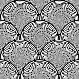 Sömlös monokrom piruettbakgrund för design Royaltyfri Fotografi
