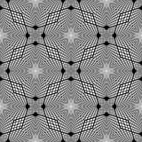 Sömlös monokrom rasterbakgrund för design Royaltyfri Foto