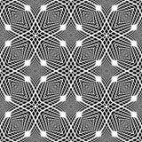 Sömlös monokrom rasterbakgrund för design Royaltyfri Fotografi