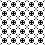 Sömlös mosaik för abstrakt bakgrund av koncentriska cirklar i diagonal ordning Retro designvektortapet Arkivfoto