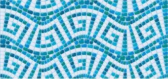 Sömlös mosaikmodell - blå keramisk tegelplatta vektor illustrationer