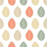 Sömlös naturvektormodell Hand dragen skogprydnad Apelsinbrunt- och gräsplansidor med ris på vit bakgrund royaltyfri illustrationer