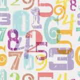 Sömlös nummermodell Arkivbild