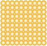 Sömlös orange blom- symmetrisk modell Designbeståndsdel, inpackningspapper Royaltyfri Bild